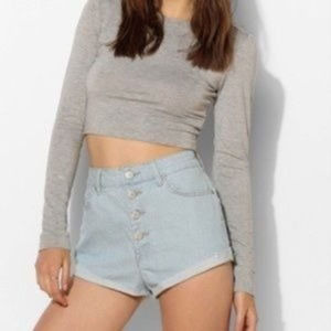 UO BDG High Rise Mom Jean Button Fly Shorts 27